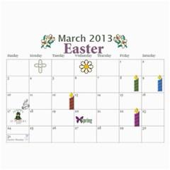 2013 Calendar By Loralie   Wall Calendar 11  X 8 5  (12 Months)   Faiuddgfjz6s   Www Artscow Com Mar 2013