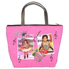 Bucket Bag  Rock Princess 2 By Jennyl   Bucket Bag   Ikn0lf6rsxam   Www Artscow Com Back