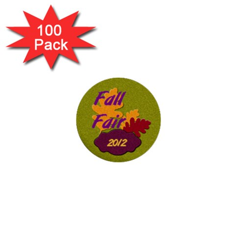 Fall Fair  By Patricia W   1  Mini Button (100 Pack)    P5kk6pu63jqb   Www Artscow Com Front