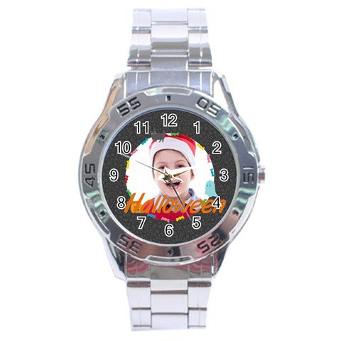 Halloween By May   Stainless Steel Analogue Watch   Mw12n91bmj5i   Www Artscow Com Front