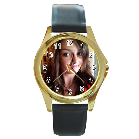 Tony By Pat   Round Gold Metal Watch   Ojq1f6a8gdcj   Www Artscow Com Front