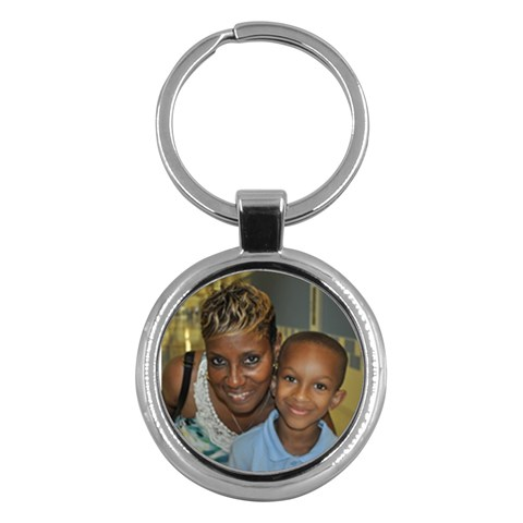 Key Chain By Meredith Hazel   Key Chain (round)   F0a9e6uky3q6   Www Artscow Com Front