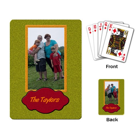 The Taylors Cards By Patricia W   Playing Cards Single Design   14oehbkuy80j   Www Artscow Com Back