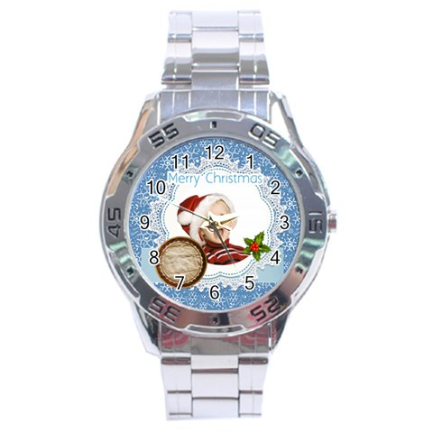 Xmas By Man   Stainless Steel Analogue Watch   Rjrjeo8evyzf   Www Artscow Com Front