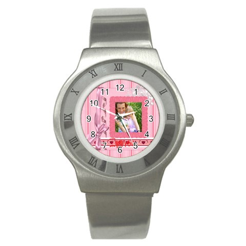 I Love You By Joely   Stainless Steel Watch   2n58b4t5a5y8   Www Artscow Com Front