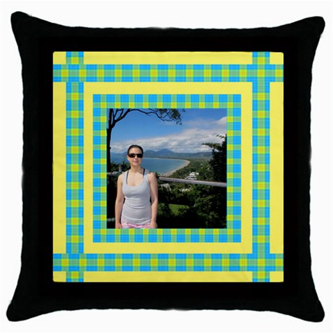 My Sunny Day Throw Pillow By Deborah   Throw Pillow Case (black)   Z5jdfzgbqw0d   Www Artscow Com Front