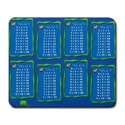 Mousepad   Tablas De Multiplicar By Matematicaula   Collage Mousepad   Sl4cbr3eb2bm   Www Artscow Com 9.25 x7.75 Mousepad - 1