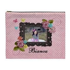 Xl Cosmetic Bag  Sweet Bianca By Jennyl   Cosmetic Bag (xl)   Erbqkiwzjruu   Www Artscow Com Front