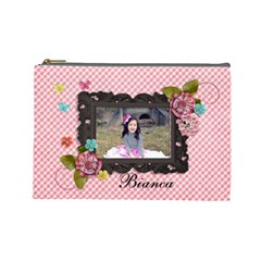Large Cosmetic Bag  Sweet Bianca By Jennyl   Cosmetic Bag (large)   9mxnfcv423bq   Www Artscow Com Front
