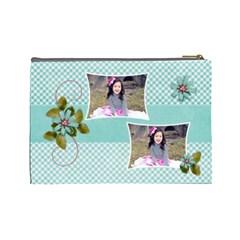 (l) Cosmetic Bag: Swirls Delight By Jennyl   Cosmetic Bag (large)   B6qeojsp0bpc   Www Artscow Com Back