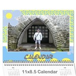 Happy days Calendar (any year) - Wall Calendar 11  x 8.5  (12-Months)