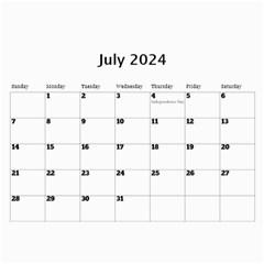 Happy Days Calendar (any Year) By Deborah   Wall Calendar 11  X 8 5  (12 Months)   9pzstgrhsjse   Www Artscow Com Jul 2018