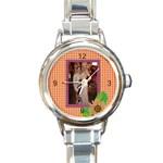 Elegant Round Italian Charm Watch