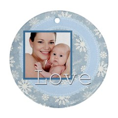 Xmas By M Jan   Round Ornament (two Sides)   Kkpwhg4d0cyg   Www Artscow Com Back