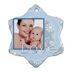 xmas - Snowflake Ornament (Two Sides)