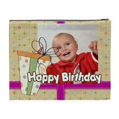 Happy Birthday By Man   Cosmetic Bag (xl)   9hy1sb0bkfcz   Www Artscow Com Back