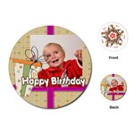 happy birthday - Playing Cards (Round)