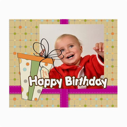 Happy Birthday By Man   Small Glasses Cloth   Ztfmsc02eazh   Www Artscow Com Front