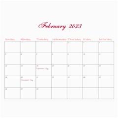 2016 French Garden Vol1   Wall Calendar 11x8 5 (12months) By Picklestar Scraps   Wall Calendar 11  X 8 5  (12 Months)   3tanm2mz8glh   Www Artscow Com Feb 2016