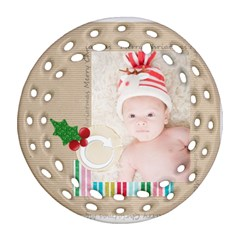 Xmas By Joely   Round Filigree Ornament (two Sides)   A9bhoewjb5q2   Www Artscow Com Back