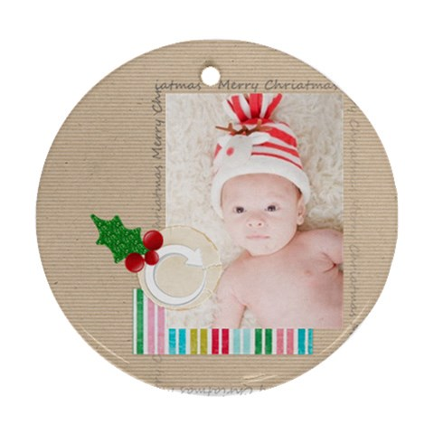 Xmas By Joely   Ornament (round)   J5p3uatlmmlm   Www Artscow Com Front