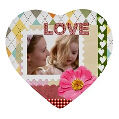 Love By Joely   Heart Ornament (two Sides)   W4j0l976qqs7   Www Artscow Com Front