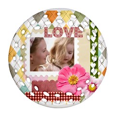 Love By Joely   Round Filigree Ornament (two Sides)   Mtc2s68bk7aj   Www Artscow Com Front