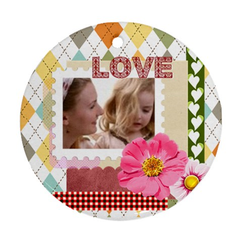 Love By Joely   Ornament (round)   Lz22sg7f0vmj   Www Artscow Com Front