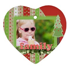 Xmas By Joely   Heart Ornament (two Sides)   Puht5a8mkez5   Www Artscow Com Front