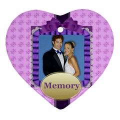 Memory By Joely   Heart Ornament (two Sides)   55tw84cwsqz2   Www Artscow Com Front