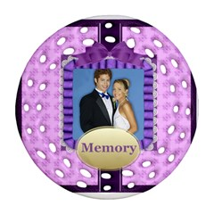 Memory By Joely   Round Filigree Ornament (two Sides)   Ju5qp9i67pnr   Www Artscow Com Front