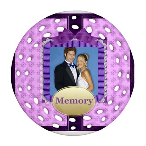 Memory By Joely   Ornament (round Filigree)   Uvc3g0p8tki3   Www Artscow Com Front