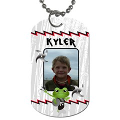 Ninjafrogtag By Lmw   Dog Tag (two Sides)   39nqqooj0z41   Www Artscow Com Front
