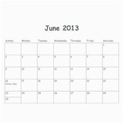 Calendar For Cheryl 2013 By Carrie Wardell   Wall Calendar 11  X 8 5  (12 Months)   C98ls3170xkk   Www Artscow Com Jun 2013