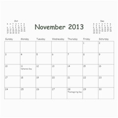 Calendar For Mom & Papa 2013 By Carrie Wardell   Wall Calendar 11  X 8 5  (12 Months)   92nk03zxm66z   Www Artscow Com Nov 2013