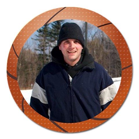 Basketball Frame Magnet 5 Inch By Jolene   Magnet 5  (round)   Cq4oz5z3g08i   Www Artscow Com Front