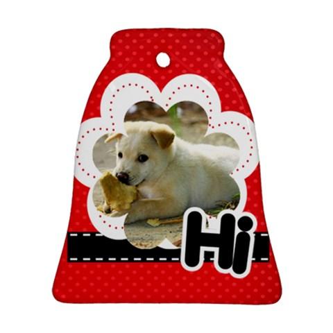Hi By Divad Brown   Ornament (bell)   Gcu38vot918z   Www Artscow Com Front