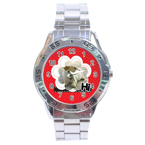 Hi By Divad Brown   Stainless Steel Analogue Watch   Lhwzg98zdtf1   Www Artscow Com Front