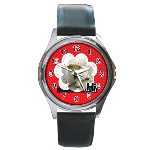 Hi By Divad Brown   Round Metal Watch   Eoct0etub36j   Www Artscow Com Front