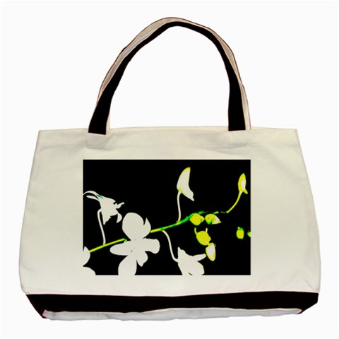 White Orchids By Monasol Earthlink Net   Basic Tote Bag   Fsvpt5vnkyal   Www Artscow Com Front