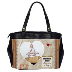 Grandmas Oversize Office Handbag (2 Sides) By Lil    Oversize Office Handbag (2 Sides)   Lev9tubtv8ws   Www Artscow Com Back