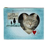 Cats XL Cosmetic Bag - Cosmetic Bag (XL)