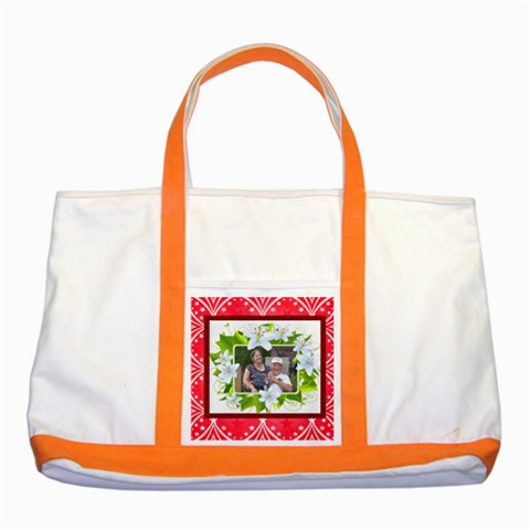 Lily Frame Two Tone Tote Bag By Kim Blair   Two Tone Tote Bag   Xmh0wllqfzvl   Www Artscow Com Front
