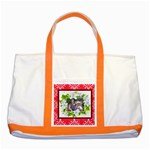 lily frame two tone tote bag