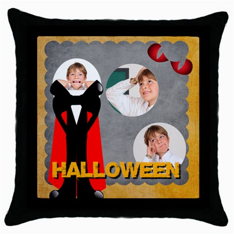Halloween By May   Throw Pillow Case (black)   F7clalskmdfc   Www Artscow Com Front