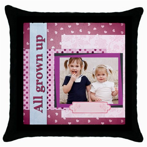 By Joely   Throw Pillow Case (black)   Hvgr5xbkvras   Www Artscow Com Front