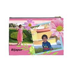 Teju By Kavita   Cosmetic Bag (large)   J3hfj8ecp6ih   Www Artscow Com Back