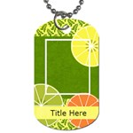 Summer Cooler Dog Tag - Dog Tag (One Side)