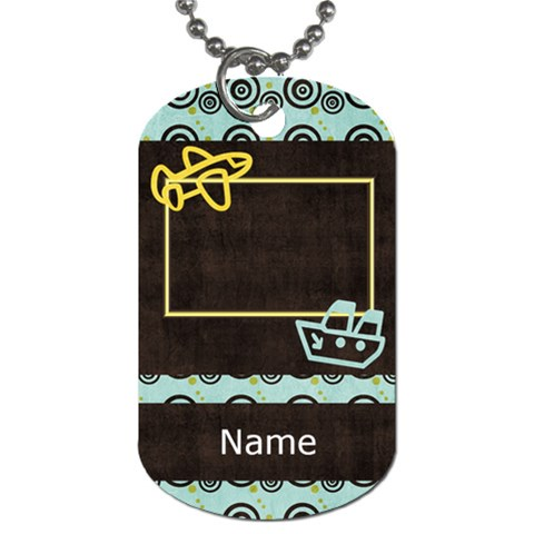 When Spring Comes Boy Dog Tag By Bitsoscrap   Dog Tag (one Side)   6esue6pg3vtr   Www Artscow Com Front