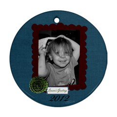 I Believe Ornament 4 By Martha Meier   Round Ornament (two Sides)   Obwz91c4lxui   Www Artscow Com Front